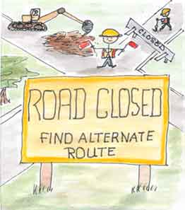Road Closed Find Alternate Route