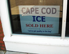 Cape Cod Ice Sold Here
